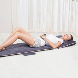 SNAILAX 10-Motor Massage Plush Massage Mat Pad For Full-Body
