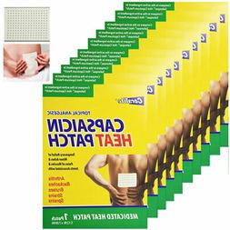 10 Pc Coralite Capsaicin Heat Patch Hot Pads Pain Relief The