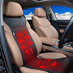 KINGLETING 12-Volt Heated Seat Cushion with Intelligent Temp