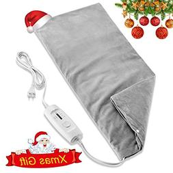 "Fitfirst 12"" X 24"" Electric Moist and Dry Heating Pad, D"