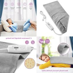 """Fitfirst 12"""" X 24"""" Electric Moist & Dry Heating Pad Deep"""