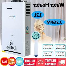 12L 24kW Propane Gas LPG Water Heater 3.2GPM Tankless Instan