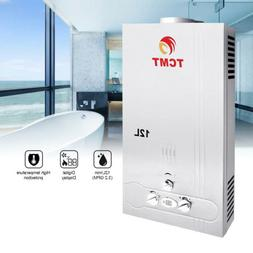 12L Natural Gas Tankless Hot Water Heater 3.2GPM Instant Boi