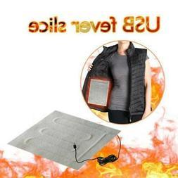 Portable 5V USB Heating Pad Vest Jacket Clothes Heating Warm