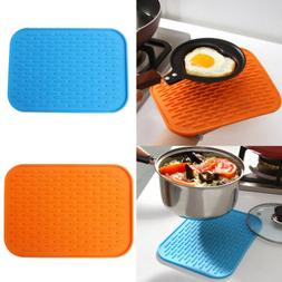 1x Kitchen Silicone Hot Pot Pan Heat Resistant Mat Pastry Pa