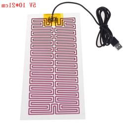 1X USB 5V 10CM*21CM Heating Heater Winter Warm Plate For Wai