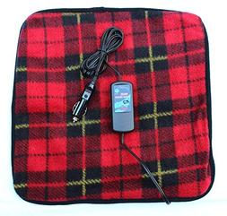 Car Cozy 2 Mini 12-volt Heated Travel Pad  with Patented Saf