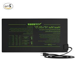 """2 PC Seedling Heat Mat 10""""x20"""" Seed Pet Starter Pad & Digita"""