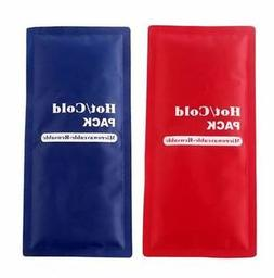 2 X Large REUSABLE HOT COLD ICE GEL PACK FIRST AID PAIN RELI