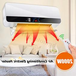 2000W Wall Mounted Heater Remote control LED Air Conditionin