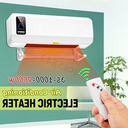 2000W Wall Mounted Heater Waterproof 220V Timing Space Heati