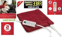 Sunbeam 002014-915-000 Xpressheat Heating Pad, Garnet Red, 1