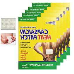 5 Pc Coralite Capsaicin Heat Patch Hot Pads Pain Relief Ther