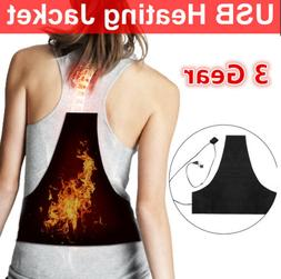 5V 2A Electric Heating Vest Heated Thermal Pad USB Charger C