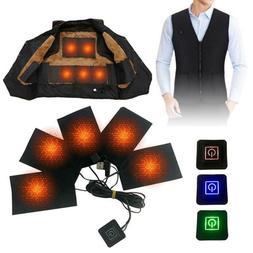 5v usb charging clothes heating pad carbon