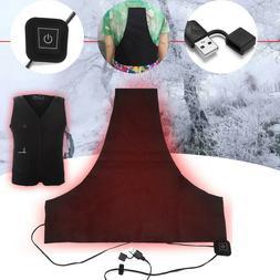 5V USB Electric Heater Vest Heated Pad Cloth Jacket Winter W