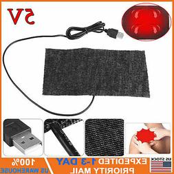 5V USB Electric Heating Pad Adjustable Temperature Thermal W