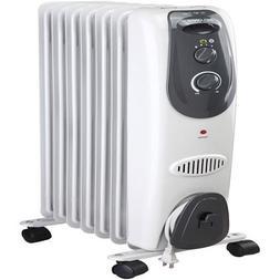 Pelonis 7-Fin Electric Radiator Heater, Gray