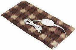 Sunbeam 764-511 12x24 inch Heating Pad -  Brown Plaid