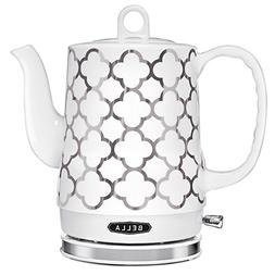 BELLA 1.2L Electric Ceramic Tea Kettle with detachable base
