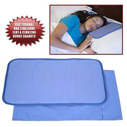 Frosty Cooling Pillow Gel Mat + STORAGE COVER - Large Adult