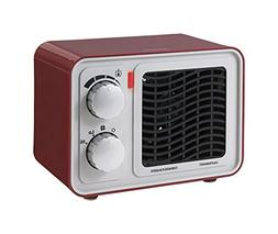 Sunbeam SFH5264MR-UM Retro Radio Heater Fan, Small, Red