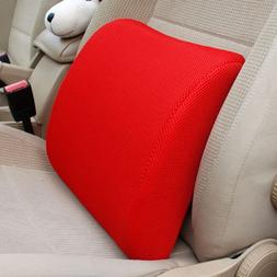 THG New Memory Foam Seat Chair Red Lumbar Back Pain Support