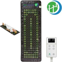 "GemsMat Amethyst Jade Tourmaline Heating Therapy Mat 72"" x 2"