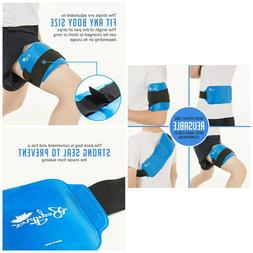 Back Gel Ice Pack Wrap for Hot & Cold Therapy: Pain Relief o