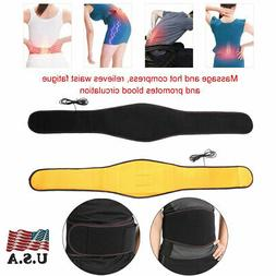 Back Support Belt Waist Heating Pad Hot Cold Brace Muscle Lu