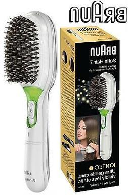 Braun BR750 WHITE Satin Iontec Battery Powered Hair Brush /R