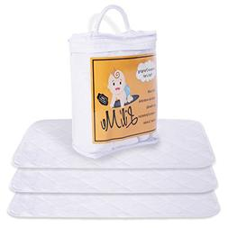 Baby Changing Pad Liners - 3 Pack – Reversible: Soft Bambo
