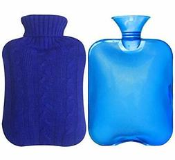 Attmu Classic Rubber Transparent Hot Water Bottle 2 Liter wi