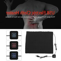 5V 2A Carbon Fiber Cloth Electric USB Heater Heating  Pad He