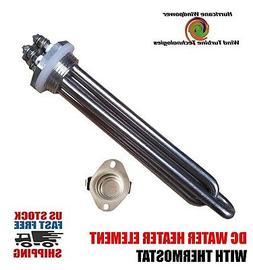 DC Water Heater Element 12 Volt 300 Watt with Thermostat 140