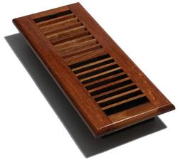 "Decor Grates Wood Louvered Register, Natural Cherry, 4"" x 12"