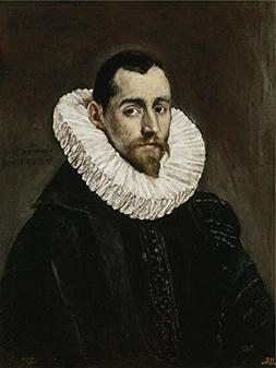 'El Greco A Nobleman  1600 05 ' Oil Painting, 8 X 11 Inch /
