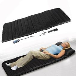 Electric Heated Full Body Back Massage for Bed Chair Pad Spa