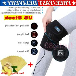 Electric Heating Knee Pad Brace Wrap Therapy Leg Massager US