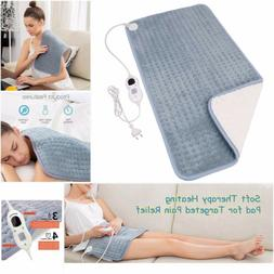 "Electric Heating Pad 12""x24"" for Shoulders Neck Back Legs Pa"