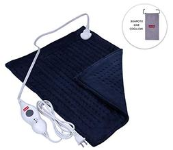 XXL Electric Heating Pad with Fast-Heating, Auto Shut Off, 3
