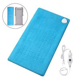 MARNUR Large Electric Heating Pad with Soft Plush, Fast-Heat