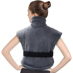 Electric Heating Pad for Neck Shoulder and Back Pain Relief