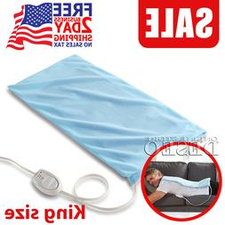 Large Electric Heating Pad King Size XL Back Shoulders Neck