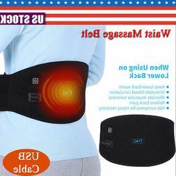 Electric Heating Waist Massage Belt Lumbar Pad Back Heat Wra