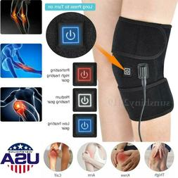 Electric Knee Heated Pad Warmer Heating Therapy Wrap Brace A