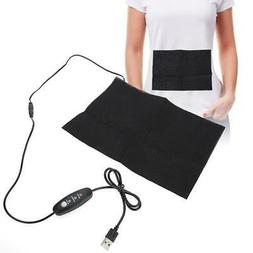 Electric USB Charging Cloth Heater Heating Pad Waist Belly W