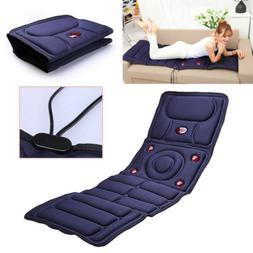 Electric Vibrating Massage Mattress Bed Cushion Body Pad Hea