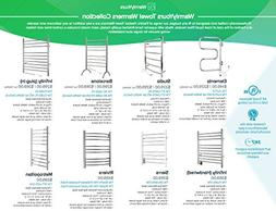 WarmlyYours Elements 4 Bar Plug In Wall Mount Electric Towel
