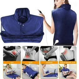 Extra Large Electric Heating Pad Full Back Shoulder Neck Pai